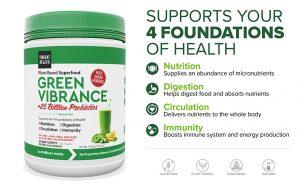 vibrant health green vibrance ingredients